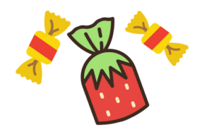 icons of butterscotch and strawberry candy